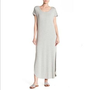 Bobeau Slit Maxi T-Shirt Dress NWT